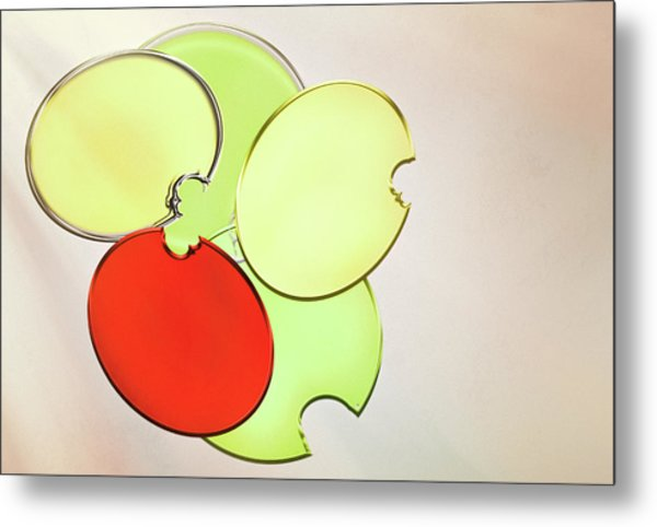Circles Of Red, Yellow And Green Metal Print
