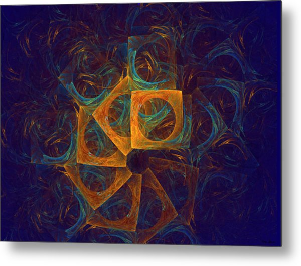 Metal Print featuring the digital art Circling The Square by Rein Nomm