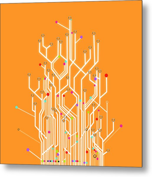 Circuit Board Graphic Metal Print