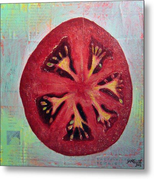 Circular Food - Tomato Metal Print