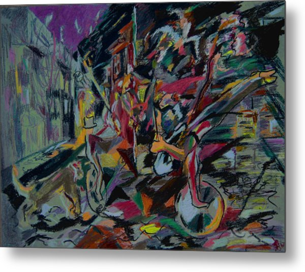 Circus In The Town  Metal Print by Tadeush Zhakhovskyy