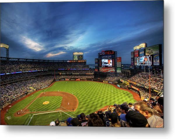 Citi Field Twilight Metal Print