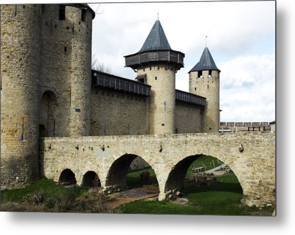 Citie De Carcassone Metal Print