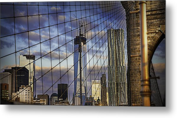 City Between The Bridge Metal Print