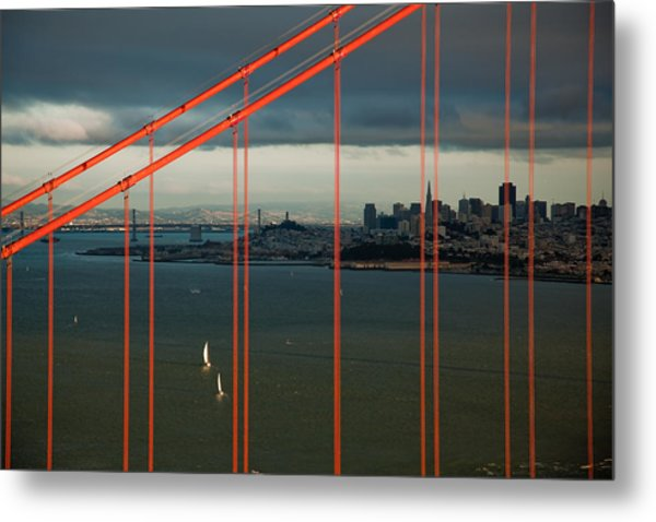 City By The Bay Metal Print by Patrick  Flynn