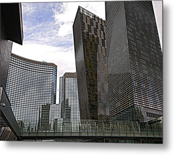 City Center At Las Vegas Metal Print