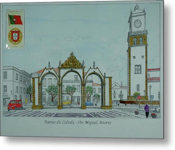 City Gates, San Miguel,azores Metal Print