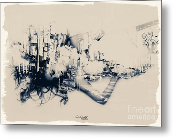 City Girl Dreaming Metal Print