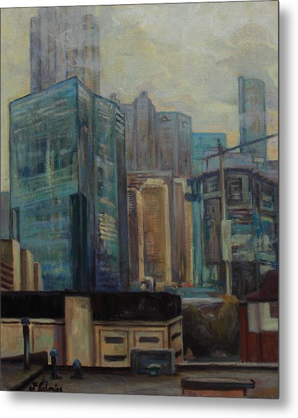 City In The Cityscape Metal Print by Maris Salmins