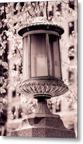 City Lamp Metal Print