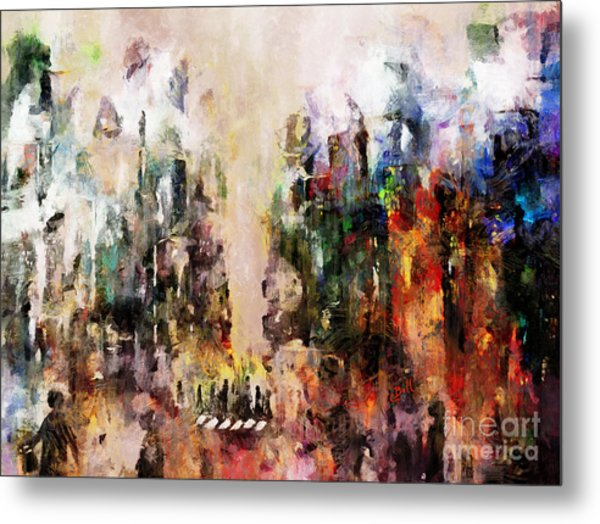 Metal Print featuring the photograph City Life by Claire Bull