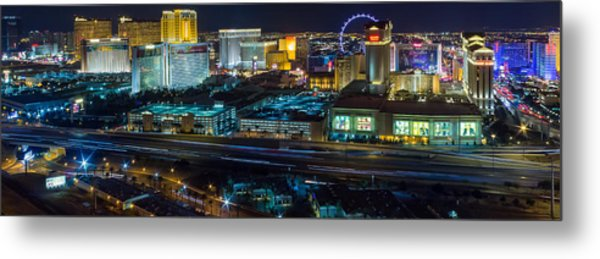 City Lifescape View Las Vegas Metal Print