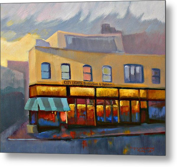 City Lights Bookstore Metal Print