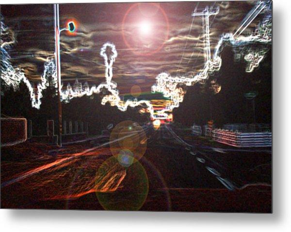 City Lights Metal Print by Joshua Sunday