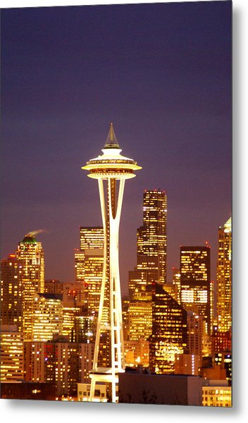 City Lights Metal Print by Sonja Anderson