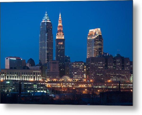 City Lights Metal Print