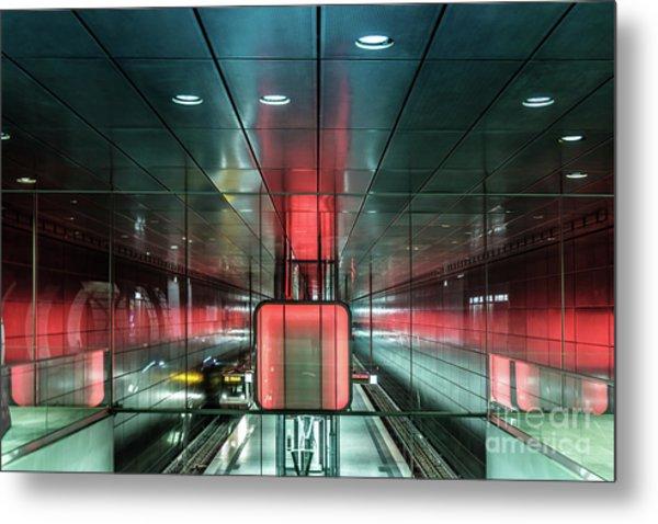 City Metro Station Hamburg Metal Print