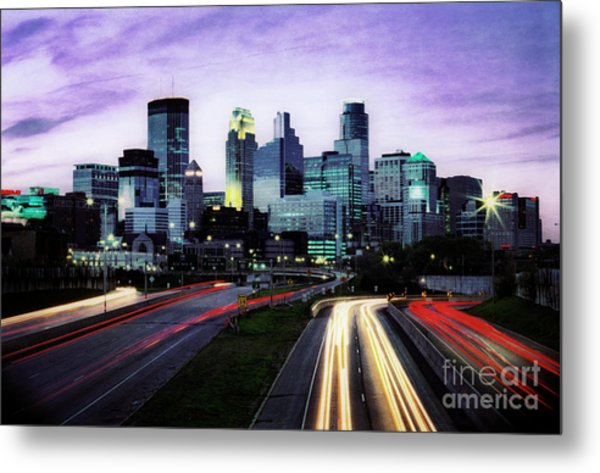 City Moves Metal Print