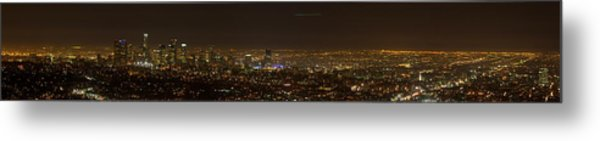 City Of Angels Panorama Metal Print