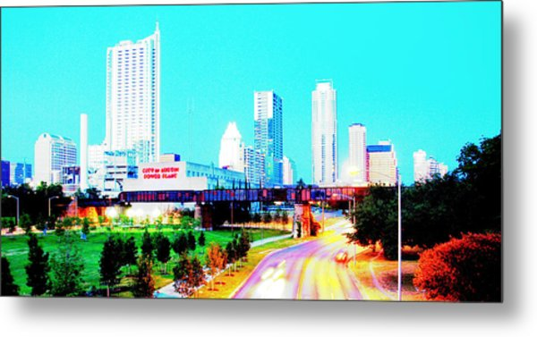 City Of Austin From The Walk Bridge 2 Metal Print