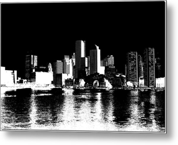 City Of Boston Skyline   Metal Print