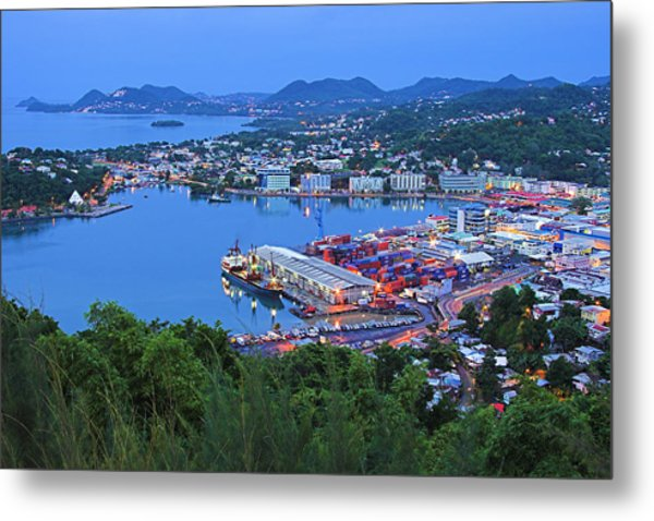 City Of Castries-st Lucia Metal Print