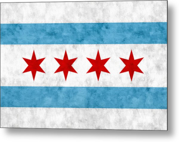 City Of Chicago Flag Metal Print
