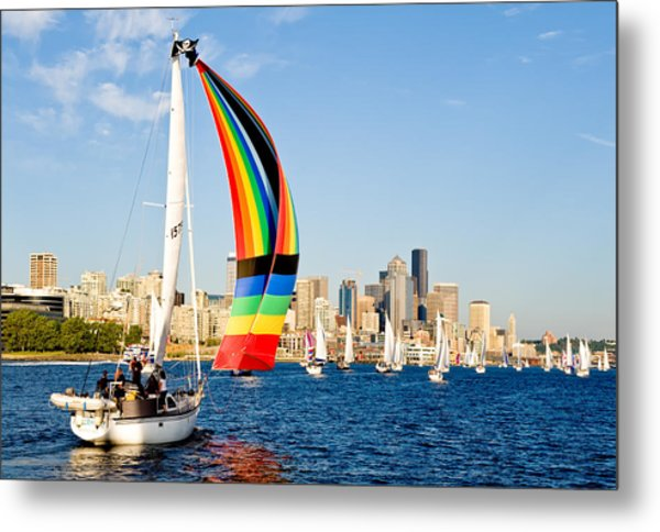 City Of Seattle Metal Print by Tom Dowd
