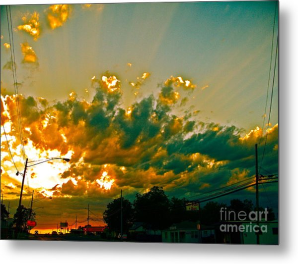 City Of Sky And Wires Metal Print by Chuck Taylor