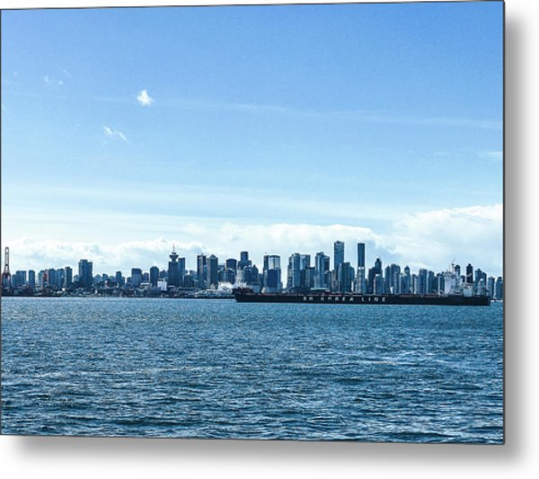 City Of Vancouver From The North Shore Metal Print