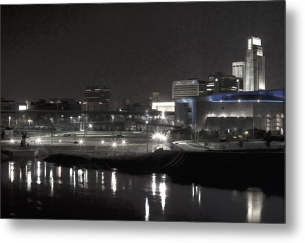 City Reflections Metal Print by Tim Perry