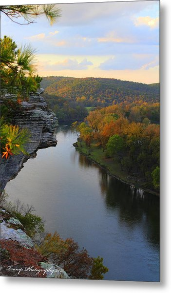 City Rock Bluff Metal Print