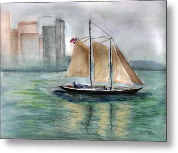 City Sail Metal Print