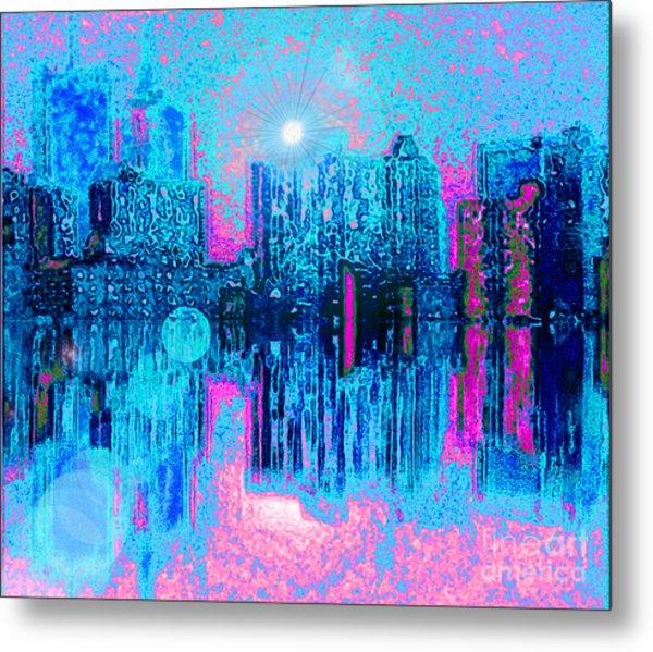 City Twilight Metal Print