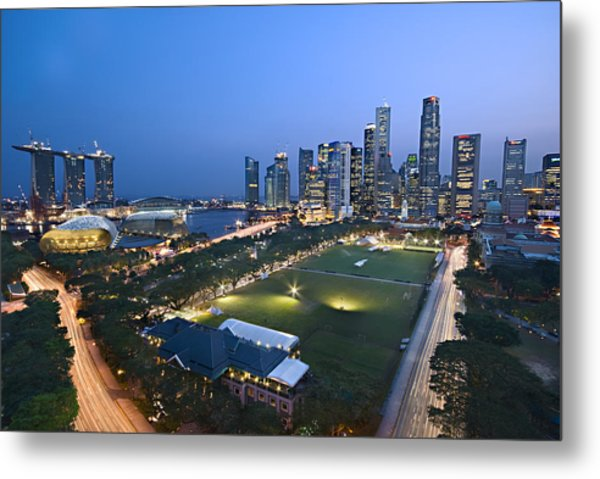 City View Of Singapore Metal Print