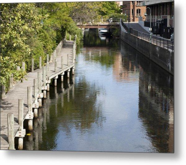City Waterway Metal Print