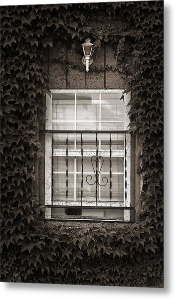 City Window Detail Metal Print