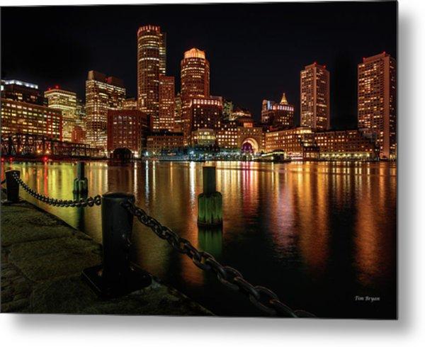 City With A Soul- Boston Harbor Metal Print