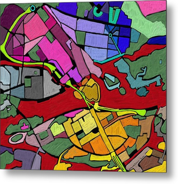 Cityplan#2 Metal Print