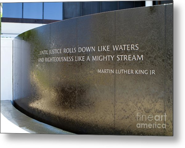 Metal Print featuring the photograph Civil Rights Memorial by Steven Frame