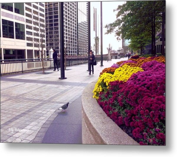 Civilization And Birds Metal Print
