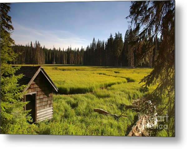 Clackamas Meadow Pump House- 2 Metal Print