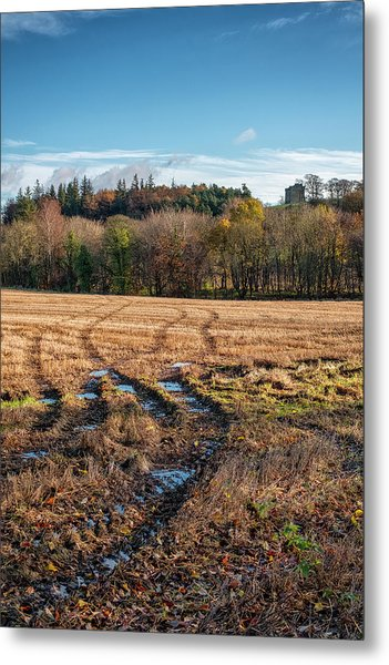 Metal Print featuring the photograph Clackmannan Tower In Central Scotland by Jeremy Lavender Photography