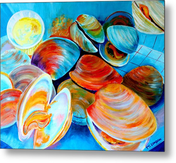 Clams At The Jersey Shore Metal Print