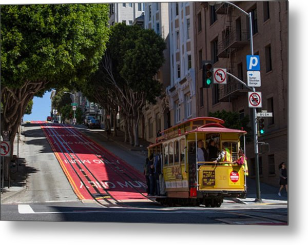 Clang Clang Goes The Cable Car Metal Print
