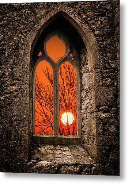 Metal Print featuring the photograph Clare Abbey Sunrise by James Truett