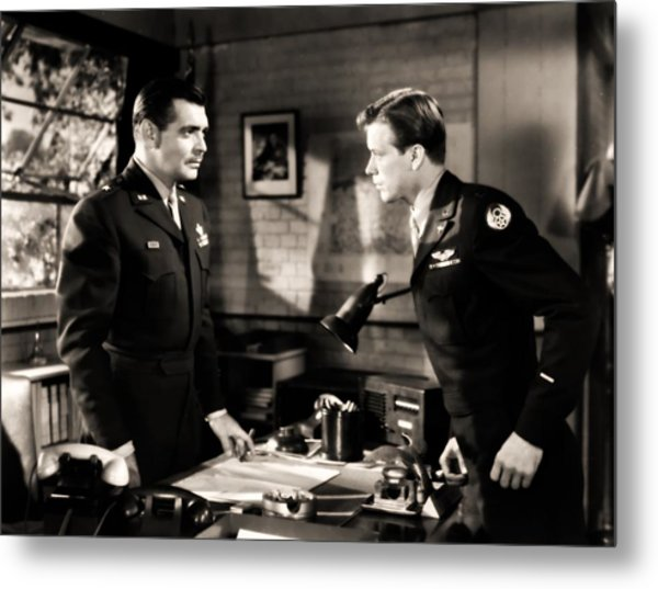Clark Gable Appearing In Command Decision Metal Print