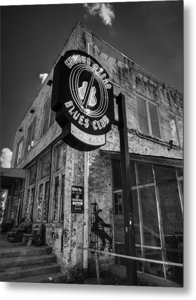 Clarksdale - Ground Zero Blues Club 001 Bw Metal Print