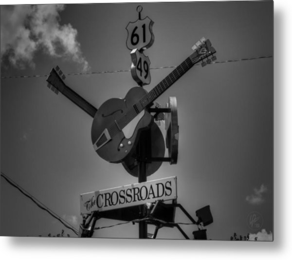 Clarksdale - The Crossroads 001 Bw Metal Print