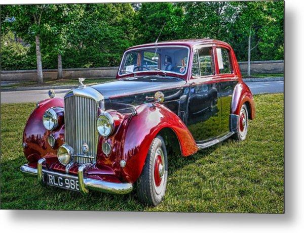 Classic Bentley In Red Metal Print